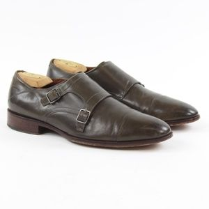 Johnston & Murphy Sheepskin Double Monk Strap Shoe